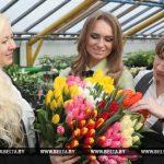 На фото: Алеся Нестерова, Мартина Богайчук, Кристина Автушкова